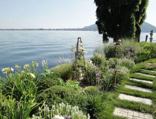 Giardino privato sul lago di Iseo (BS)